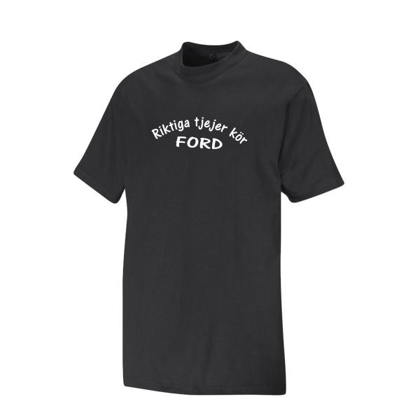 T-shirt svart Riktiga Tjejer Kör Ford M