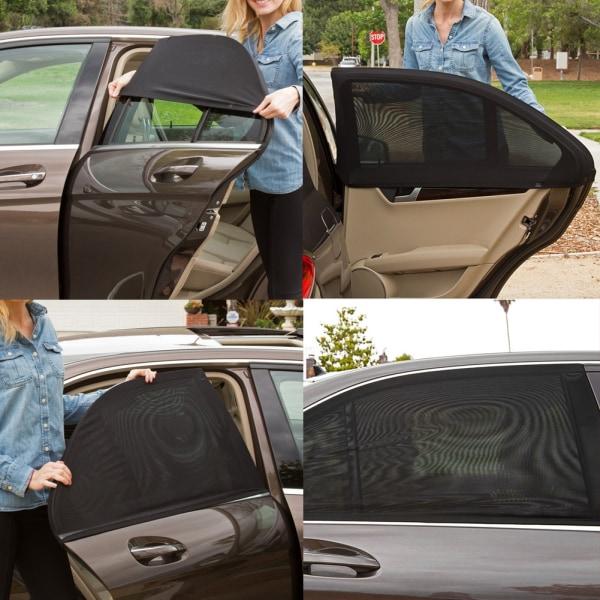 2PCS Car Sun Shade Side Mesh Window Curtain Foldable Sunshad