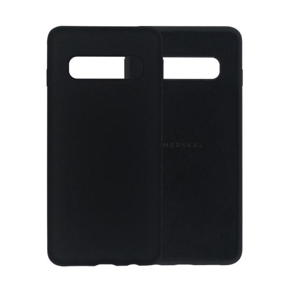 Merskal Soft Cover Galaxy S10 Svart