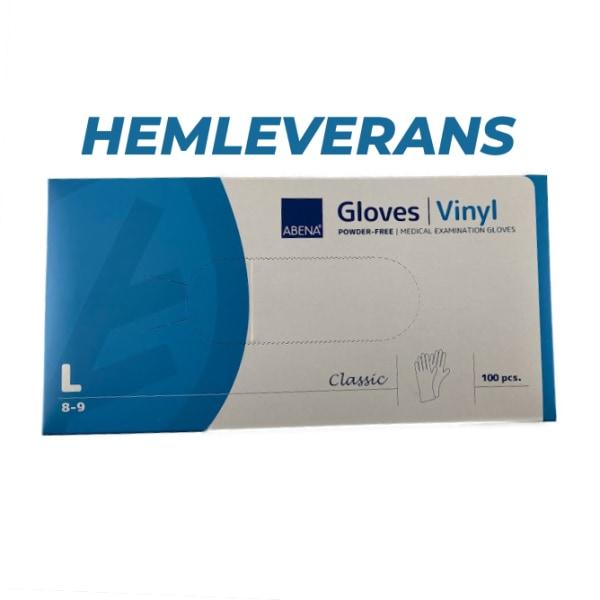 Vinyl Abena L, engångshandskar, 100st/fp HEMLEVERANS