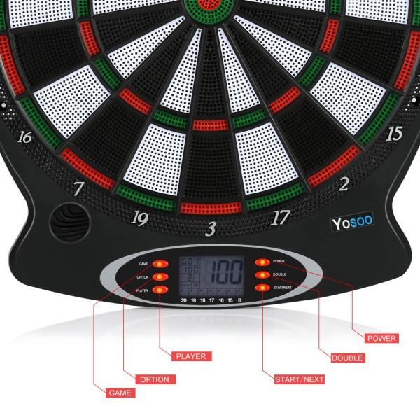 1pc Professional Electronic Hanging Dartboard LCD Scoring In