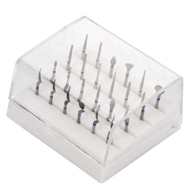 24 Holes Dental Burs Holder + Dental Diamond Burs Drill High