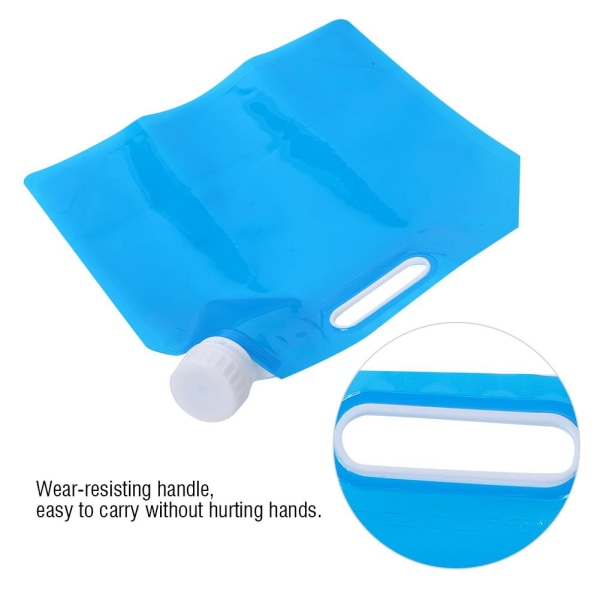 3L Portable Camping Hiking Folding Water Storage Lifting Bag