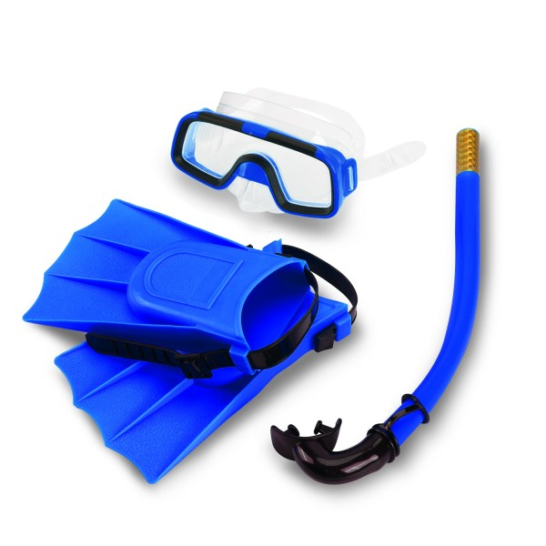 Children Kids Swimming Diving Silicone Fins+Snorkel Scuba Ey