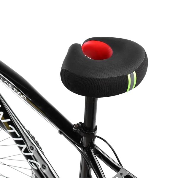 Ergonomic Mountain Bike Cycling Bicycle Noseless Shape Saddl red
