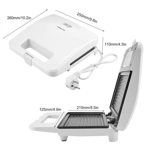 Household Electric Nonstick Baking Plate Sandwich Machine To