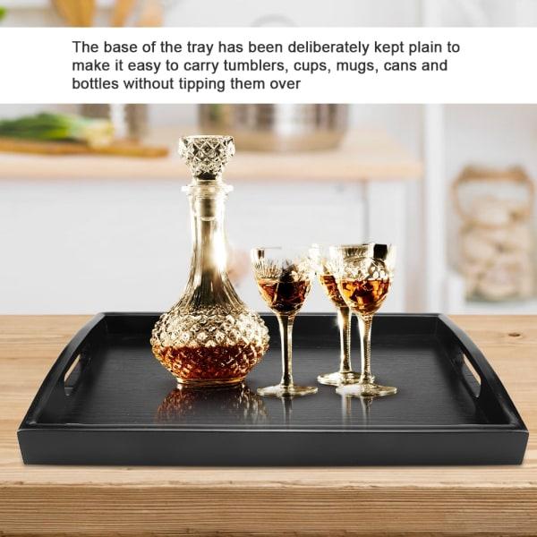 Large Wood Serving tea Water Drinks Tray Wooden Breakfast Te 45*27*4cm