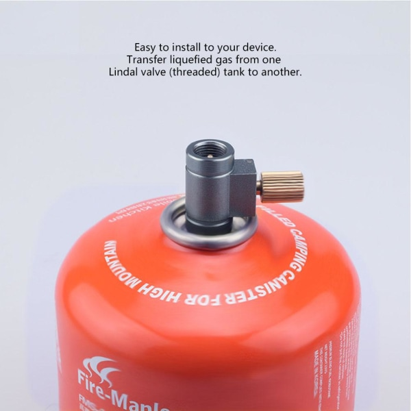 Outdoor Camping Hiking Furnace Head Gas Tank Inflating Acces