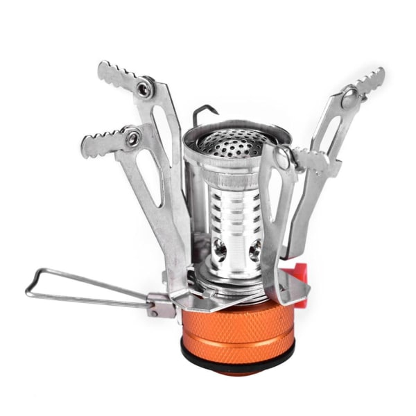 Portable Mini Lightweight Gas Stove Burner for Outdoor Campi Silver