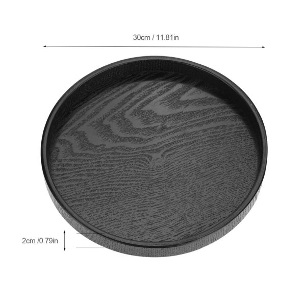 Round Shape Solid Wood Tea Coffee Snack Food Meals Serving T 30cm
