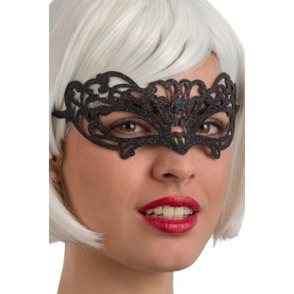 Ansiktsmask - Black glitter mask MultiColor