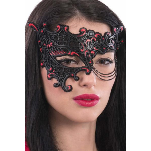 Ansiktsmask - Black/red chinless mask multifärg