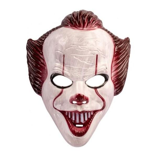 "Ansiktsmask - Clown från ""IT"" White"