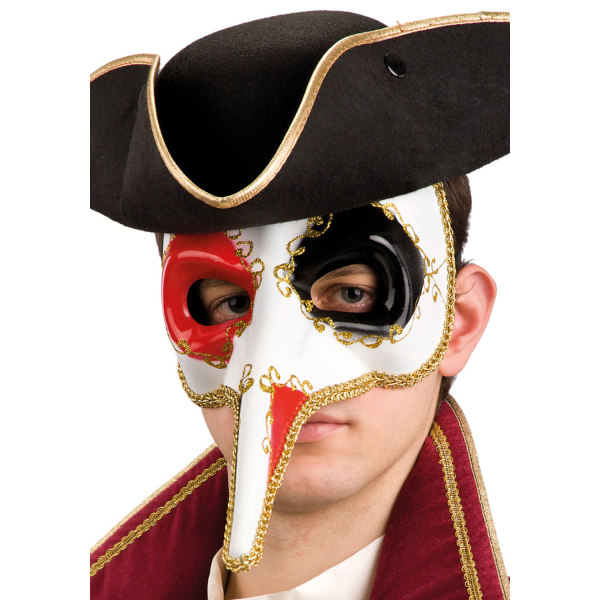 Ansiktsmask - Decorated Venetian mask with long nose multifärg