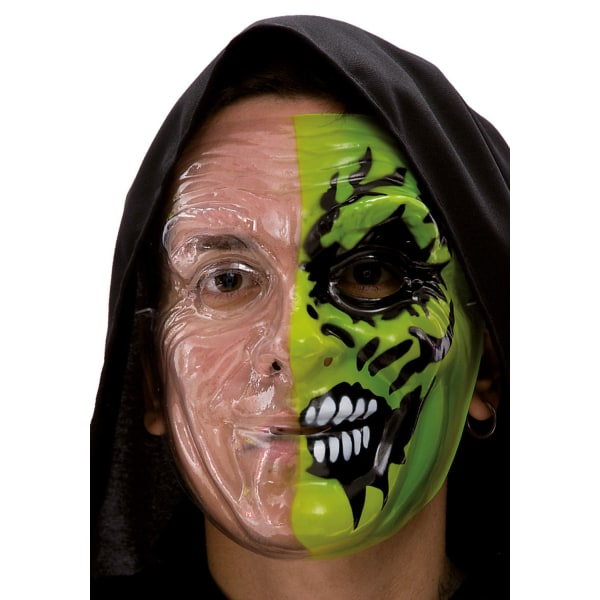 Ansiktsmask - Green half face painting multifärg
