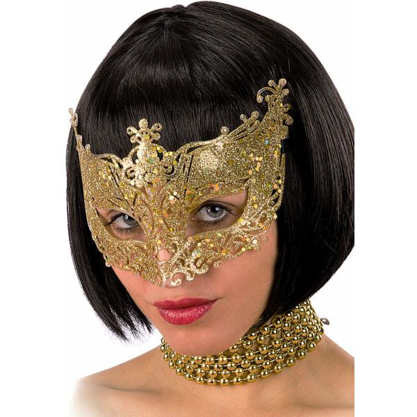 Ansiktsmask - Mask in gold with glitter multifärg