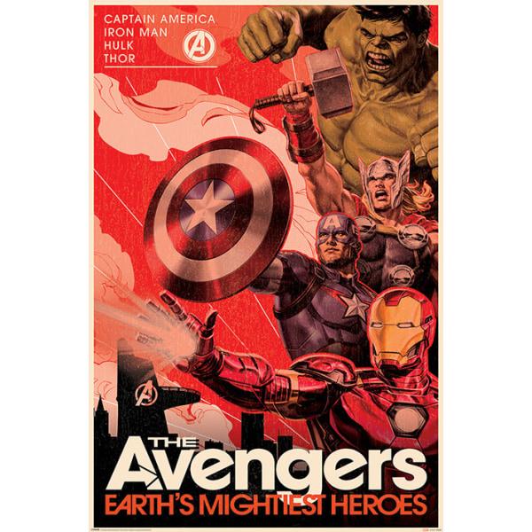 Avengers - Golden Age Hero Propaganda MultiColor