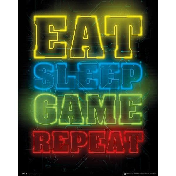 Gaming - Eat Sleep Game Repeat MultiColor