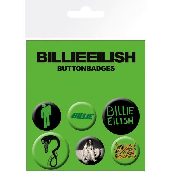 Knappsats - Badge Pack - Billie Eilish  Mix (Bravado) MultiColor