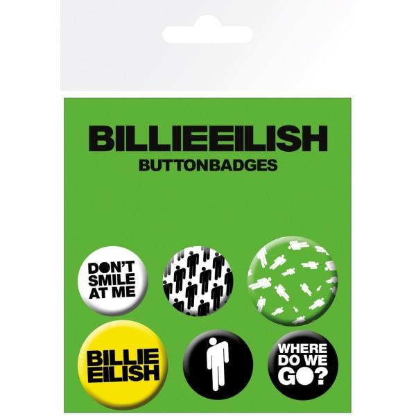 Knappsats - Badge Pack - Billie Eilish  Stickman (Bravado) MultiColor