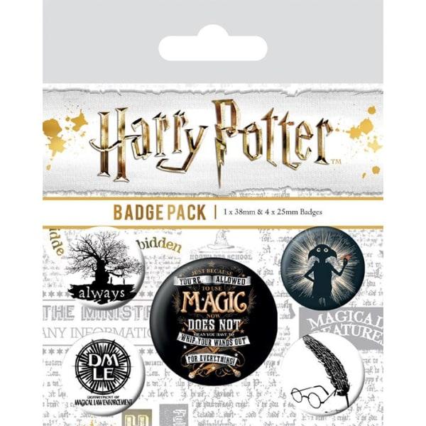 Knappsats - Badge Pack - Harry Potter (Symbols) MultiColor