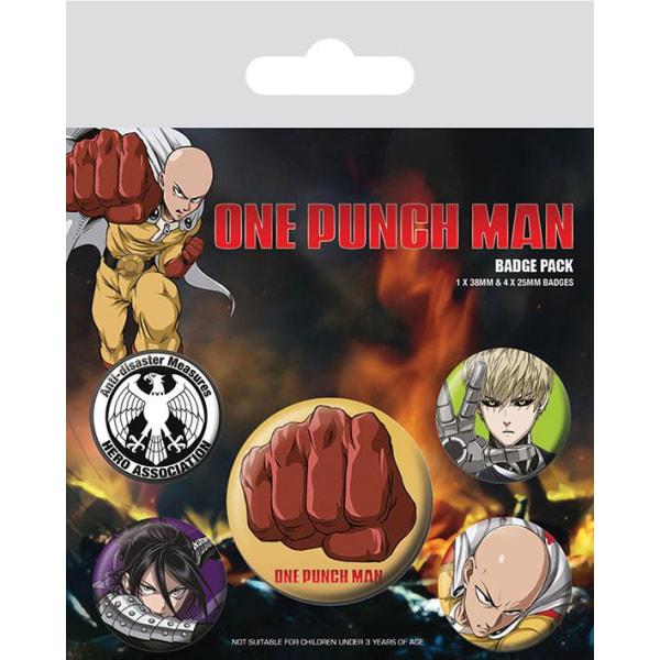 Knappsats - Badge Pack - One Punch Man (Destructive) MultiColor
