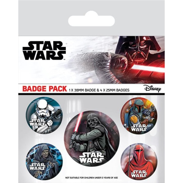 Knappsats - Badge Pack - Star Wars (Dark Side) MultiColor