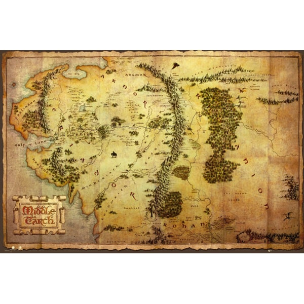 Middle Earth - The Hobbit - Journey Map multifärg