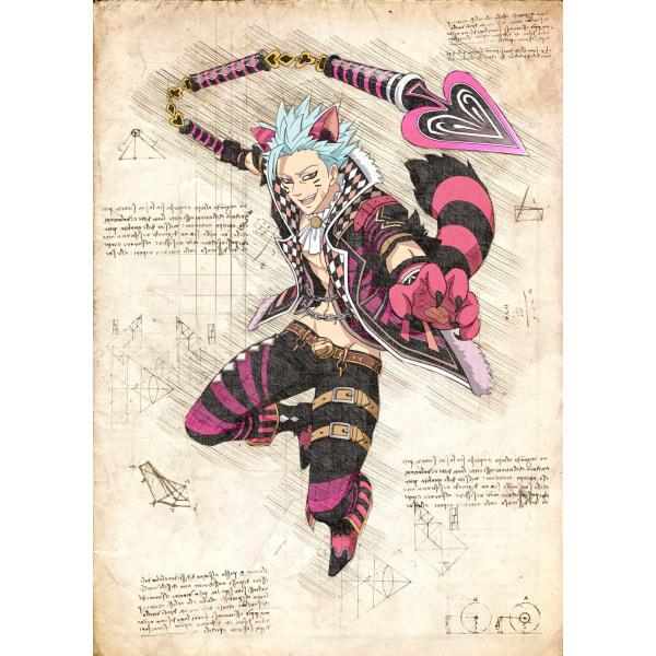 Pergament - 7 Deadly Sins - Ban Cat multifärg