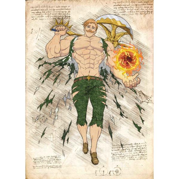 Pergament - 7 Deadly Sins - Escanor multifärg