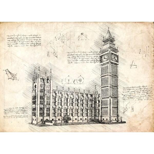 Pergament - Big Ben multifärg