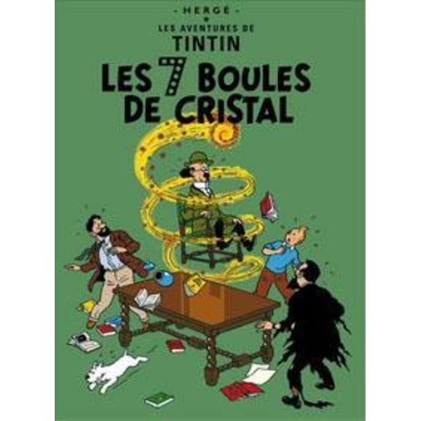 Poster -Tintin Les Sept Boules de cristal De sju kristallkulorna MultiColor