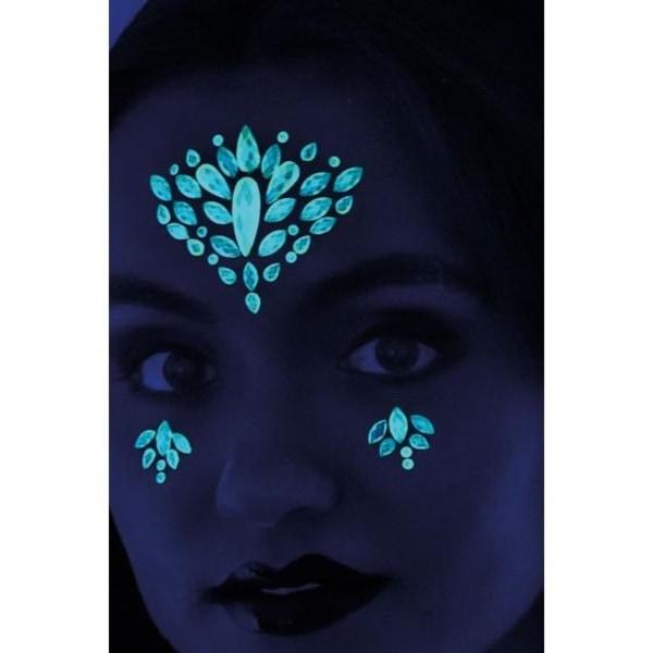 Självhäftande ansiktsdekorationer - Glow in the dark MultiColor