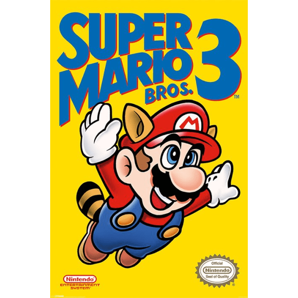Super Mario Bros. 3 - NES Cover MultiColor