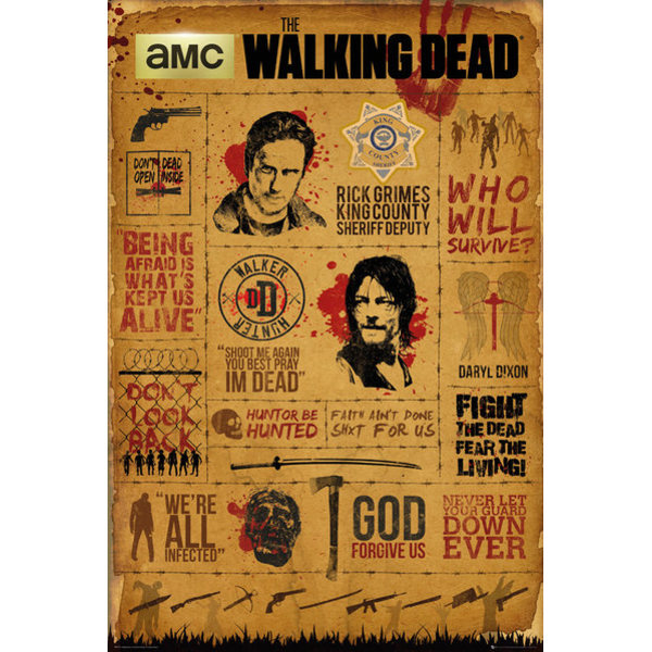 The Walking Dead - Infographic MultiColor