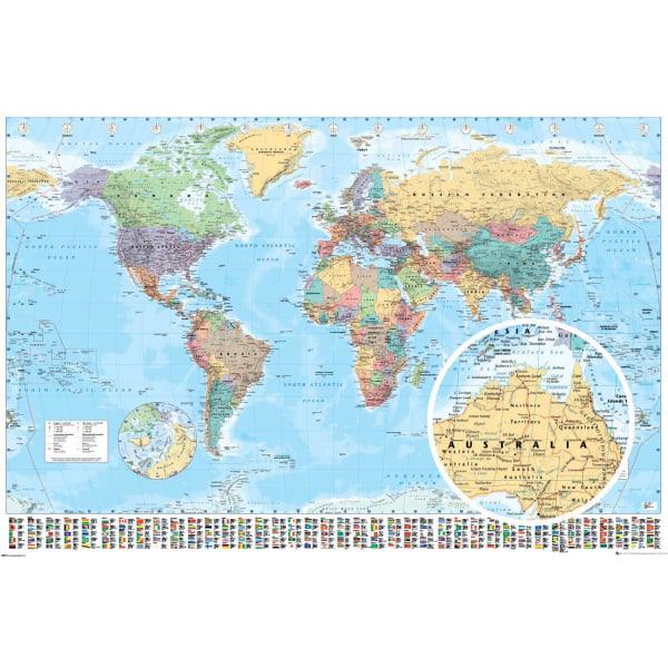 World Map - Världskarta