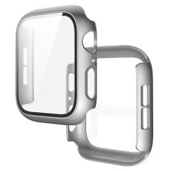 Heltäckande Skal Apple Watch 1/2/3 Härdat glas 38mm SILVER Silver