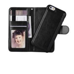 iPhone 7/8  Plånboksfodral Skal med Magnet 2 i 1 avtagbar Svart