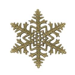 10 snöflingor brons - 45 mm