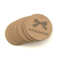 50 stycken  tags etiketter - Handmade rund