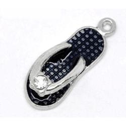 Charm - emaljerad - sandal - 5-pack