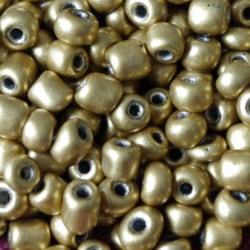 Seedbeads - glaspärlor - 4 mm - ca 550 st - guldfärgade
