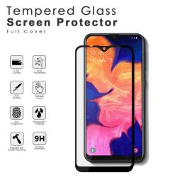 Samsung A10E härdat glas 2.5D Top Kvalitet skärmskydd  Svart
