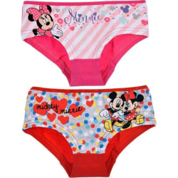 2 st Hipsters Mimmi Mouse - Rosa/Röd Red 6/8 år