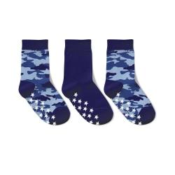 3-pack Anti-halk strumpor blå camouflage  25/27 Blå