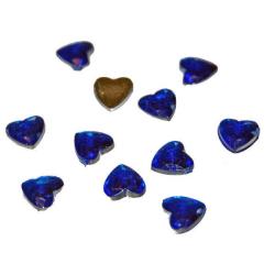 80 st Snygga Hjärtan 8x8 mm  Blå Blå
