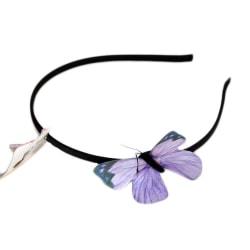 Diadem med lila fjäril  Black