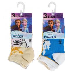 Frozen/Frost 3-pack ankelstrumpor Blue 31/34 Blå/Gul/Ljusblå