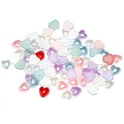 Mini Hjärtan - Blandade färger -  5 mm  MultiColor