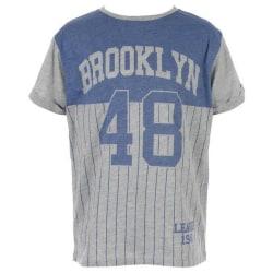 T-shirt med baseboll tryck, 122/128 cl grå